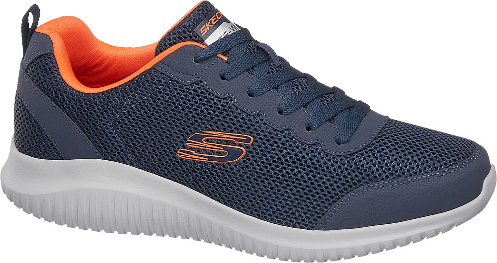 granatowe sneakersy męskie Skechers z wkładką memory foam