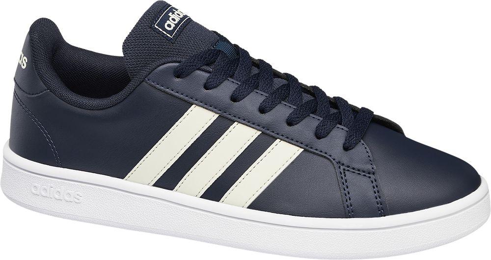granatowe sneakersy męskie adidas Grand Court Base