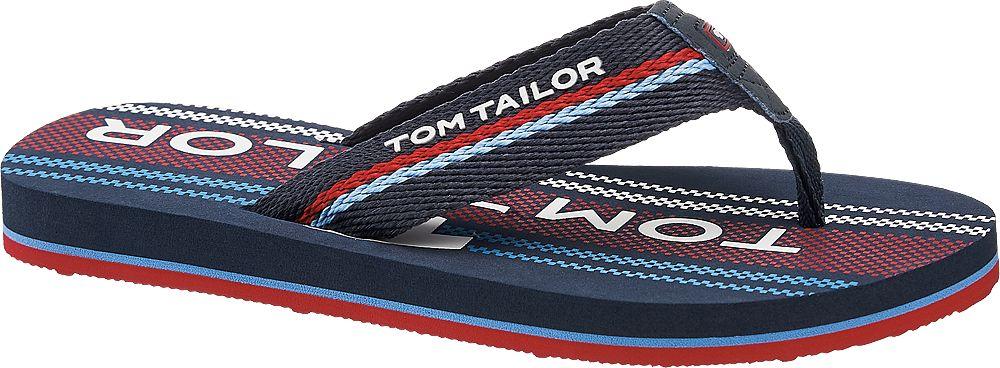granatowo-bordowe klapki chłopięce Tom Tailor