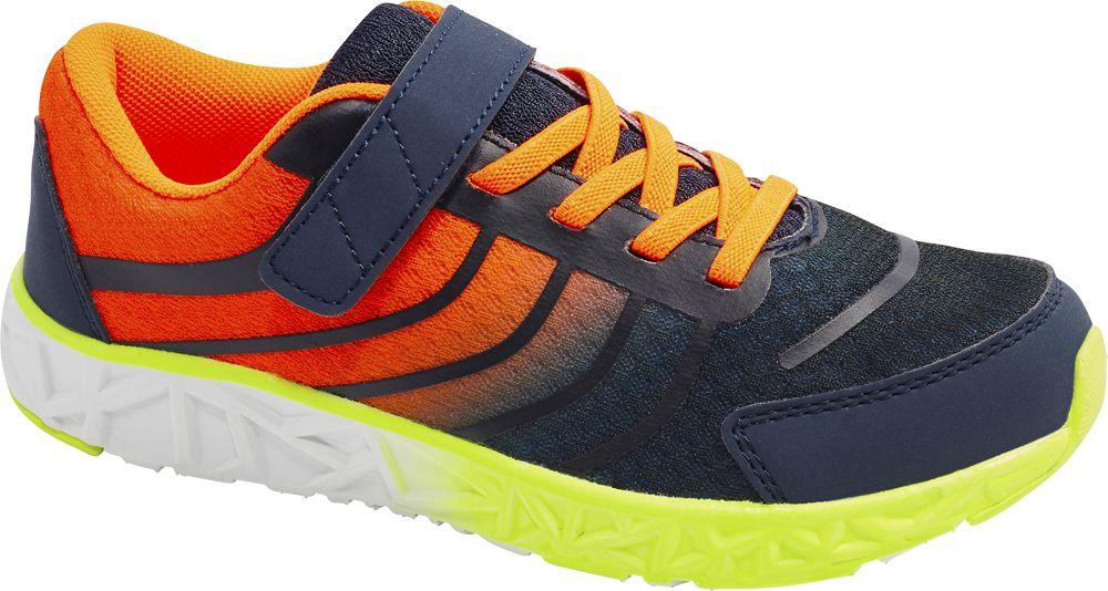 granatowo-pomarańczowe sneakersy chłopięce Vty
