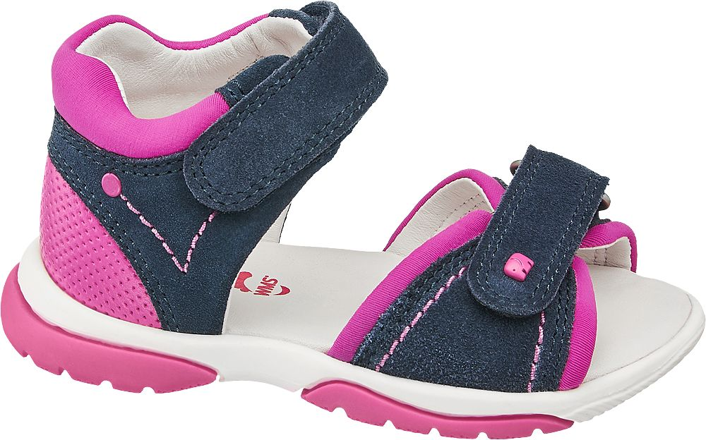 granatowo-różowe sandałki dziewczęce Elefanten, tęgość M