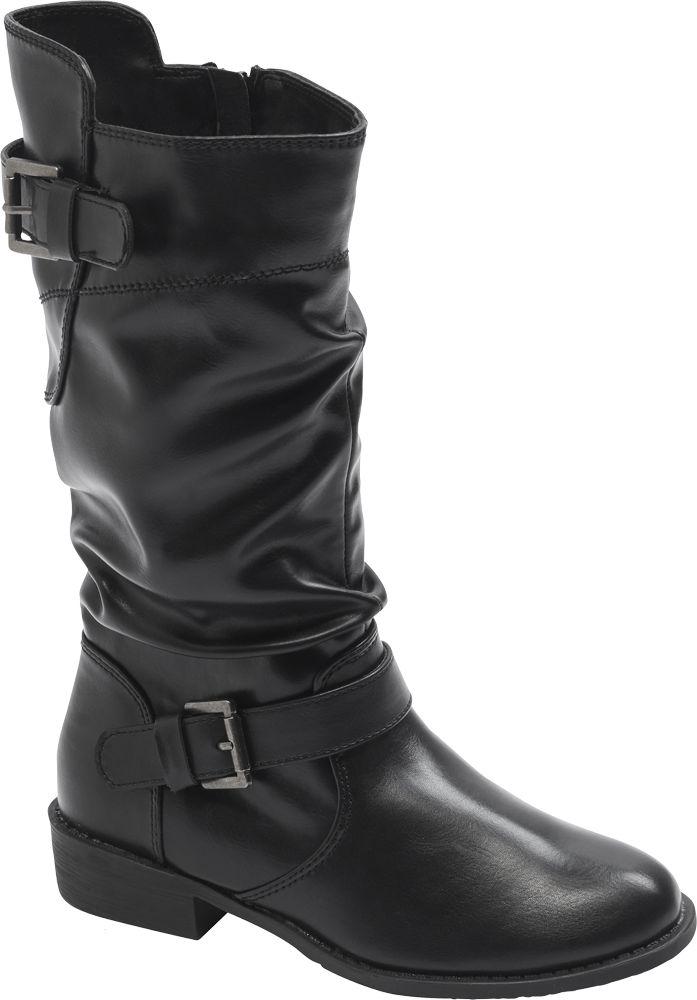 Graceland - Čierne dievčenské čižmy Graceland