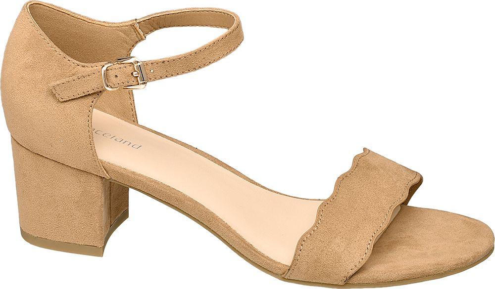 jasnobrązowe sandałki damskie Graceland z paseczkiem