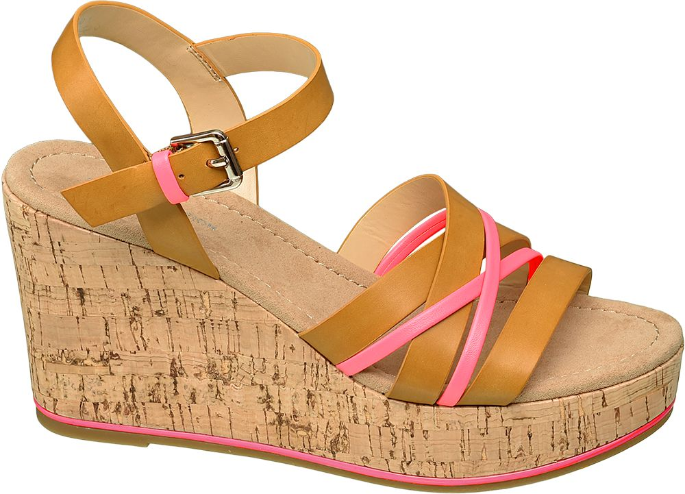 jasnobrązowe sandały damskie Star Collection na koturnie