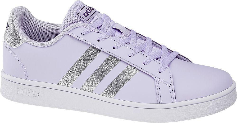 jasnofioletowe sneakersy dziewczęce adidas Grand Court