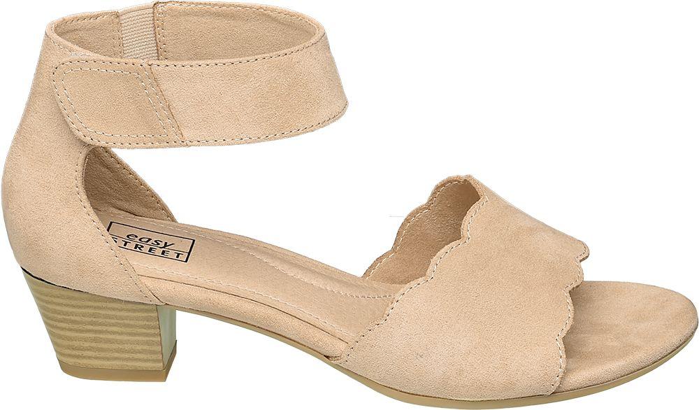 jasnoróżowe sandałki damskie Easy Street ze skórzaną wkładką