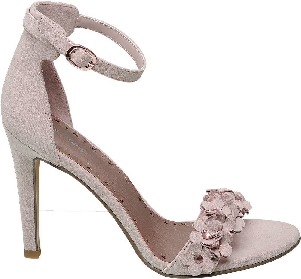 jasnoróżowe sandały Graceland na szpilce