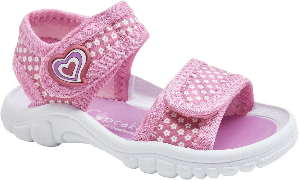 lekkie różowe sandały dziewczęce Cupcake Couture