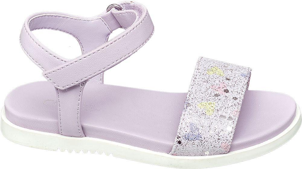 liliowe sandałki dziewczęce Cupcake Couture