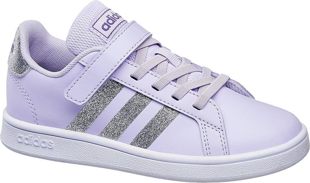 liliowe sneakersy dziewczęce adidas Grand Court
