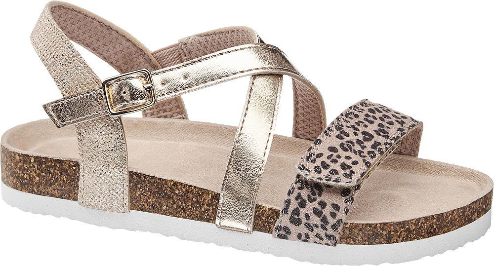 metaliczne sandałki dziewczęce Graceland na wygodnej podeszwie