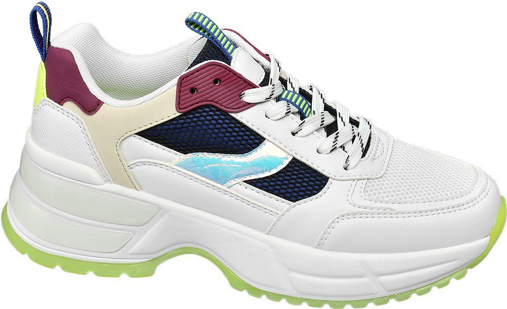 modne sneakersy damskie Star Collection z kolorowymi elementami