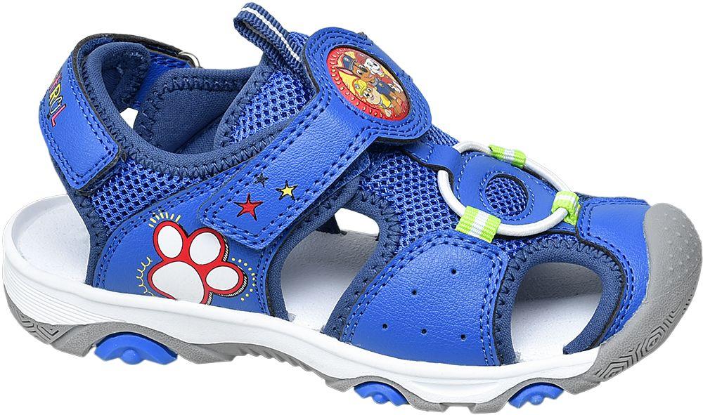 niebieskie sandałki chłopięce Paw Patrol zapinane na rzepy