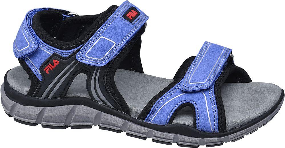 niebieskie sandały chłopięce Fila zapinane na rzepy