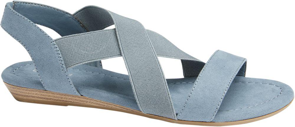 niebieskie sandały damskie Graceland z elastycznymi gumkami