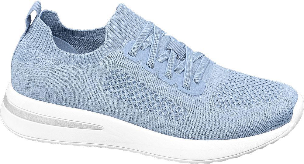 niebieskie sneakersy damskie Venice na białej podeszwie