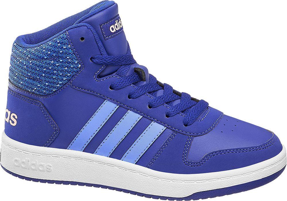 niebieskie wysokie sneakersy dziecięce adidas Hoops Mid 2.0