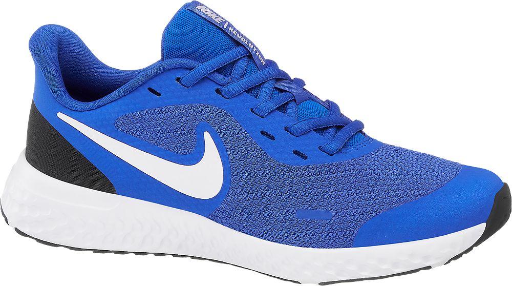 niebiesko-białe sneakersy dziecięce Nike Revolution 5