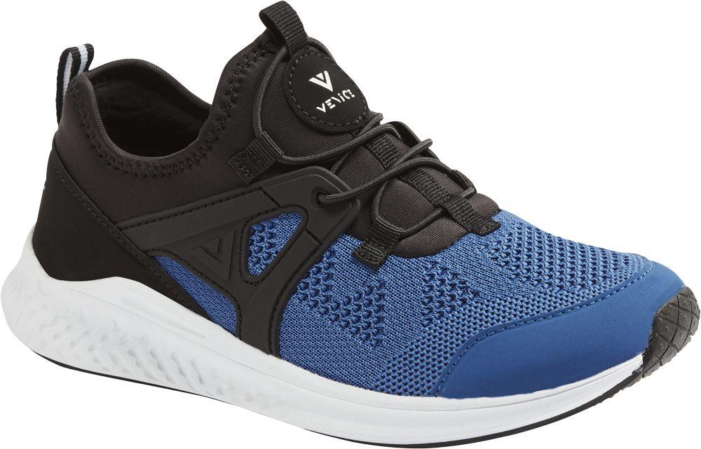 niebiesko-czarne sneakersy młodzieżoweVenice na białej podeszwie