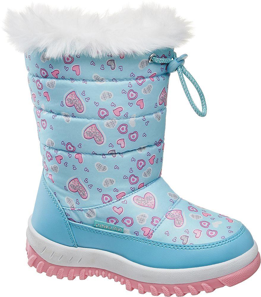 niebiesko-różowe śniegowce dziewczęce Cortina