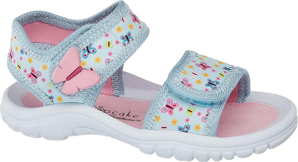 niebiesko-różowe sandałki dziewczęce Cupcake Couture