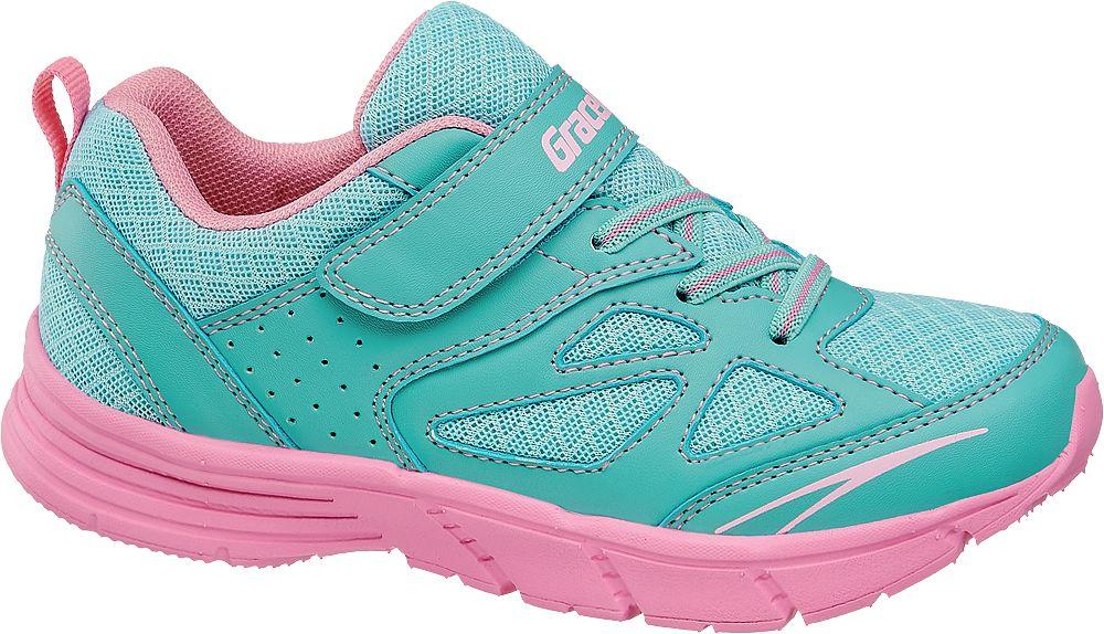 niebiesko-różowe sneakersy dziewczęce Graceland