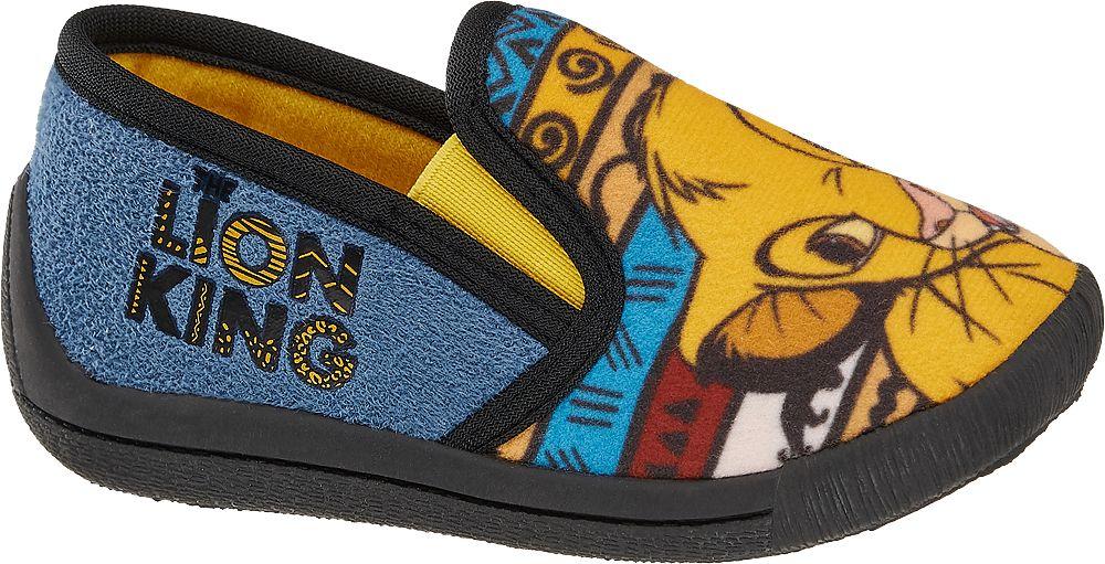 niebiesko-żółte kapcie dziecięce Król Lew