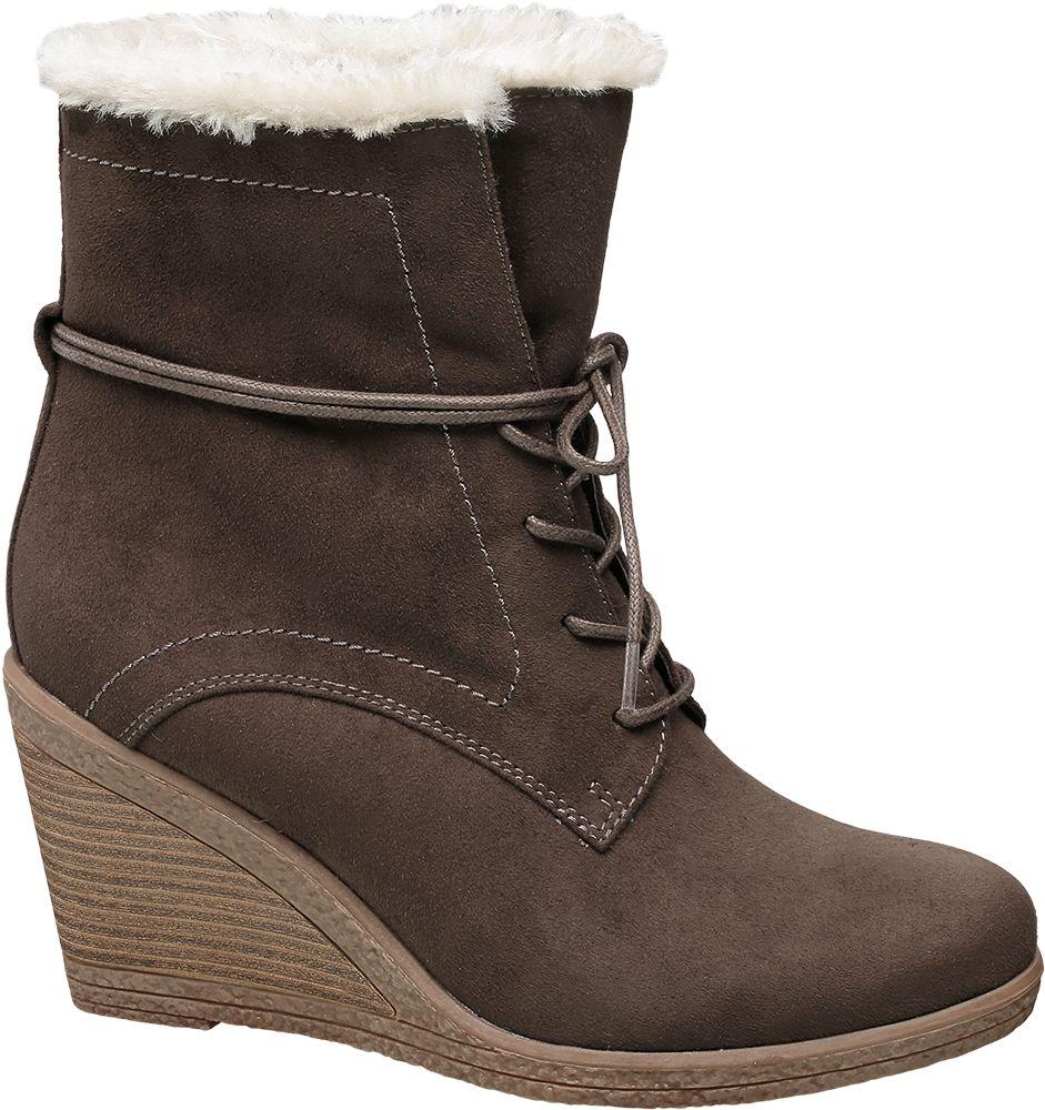 Graceland - Šněrovací obuv na klínovém podpatku