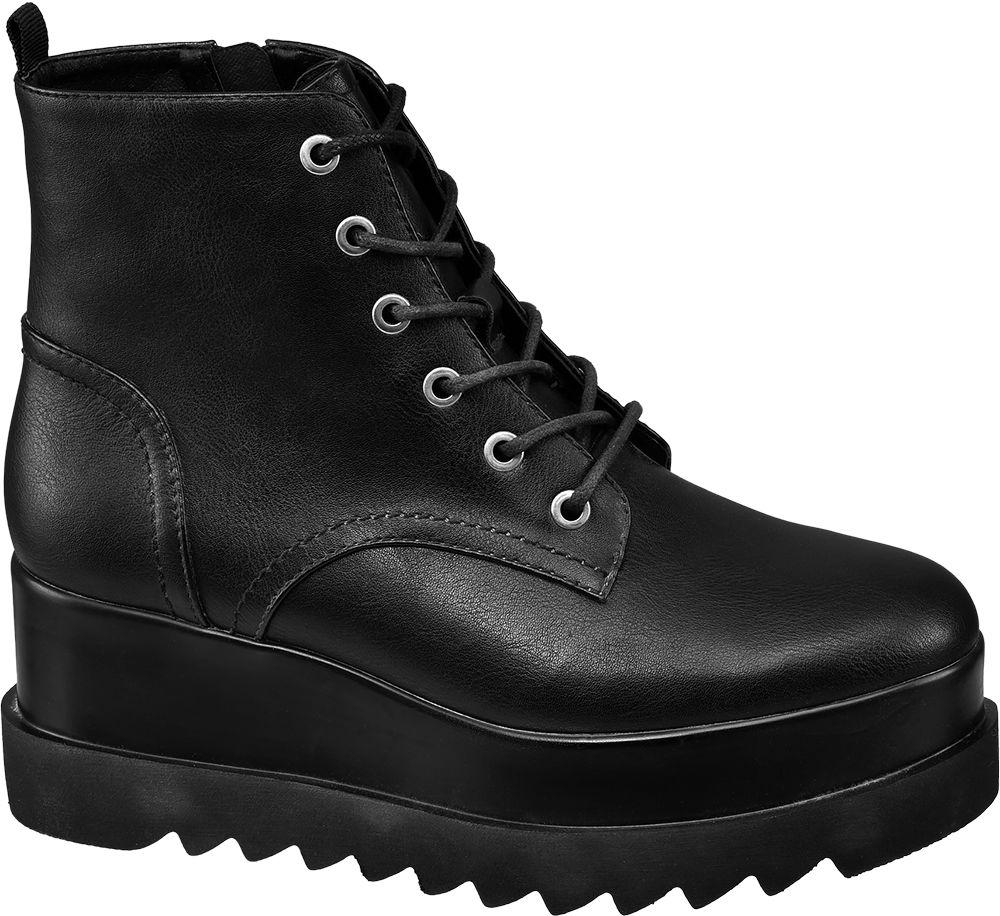 a8b3030efc Deichmann - Graceland Šněrovací obuv na platformě 36 černá