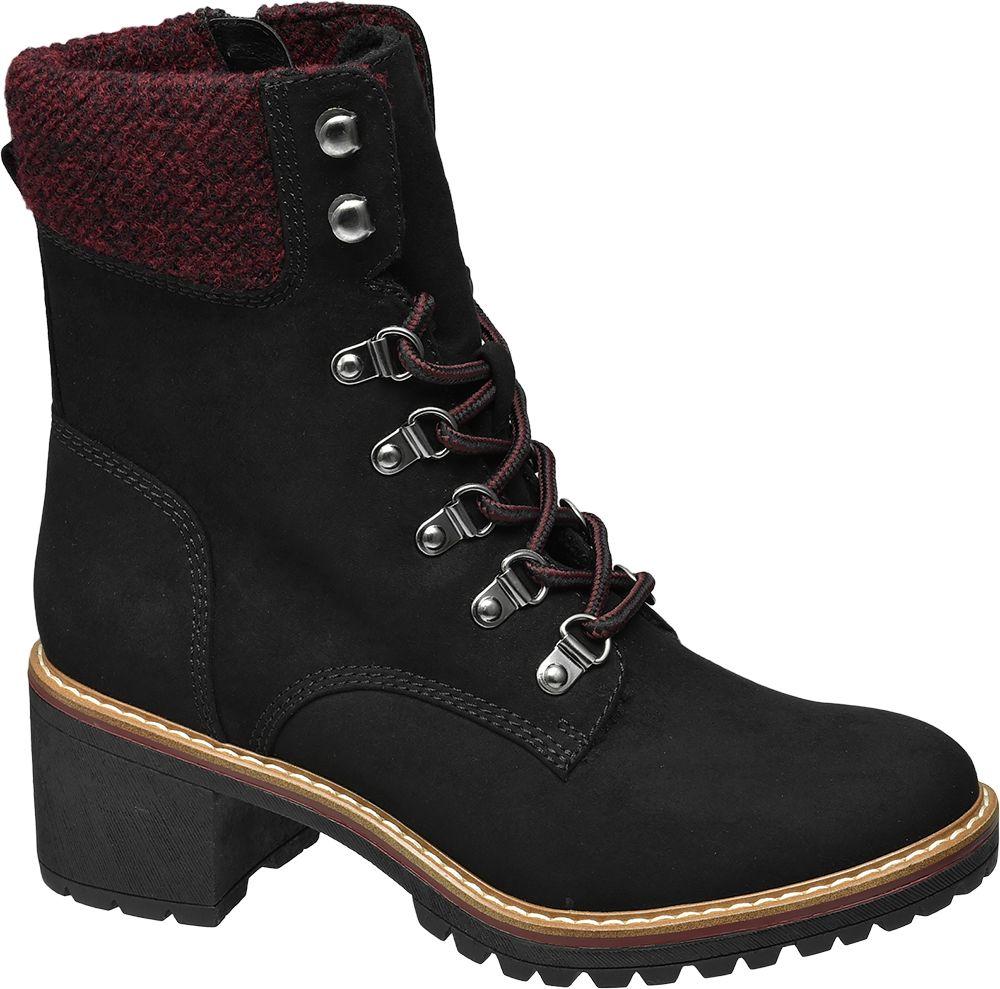 Deichmann - Ellie Star Collection Šněrovací obuv 39 černá