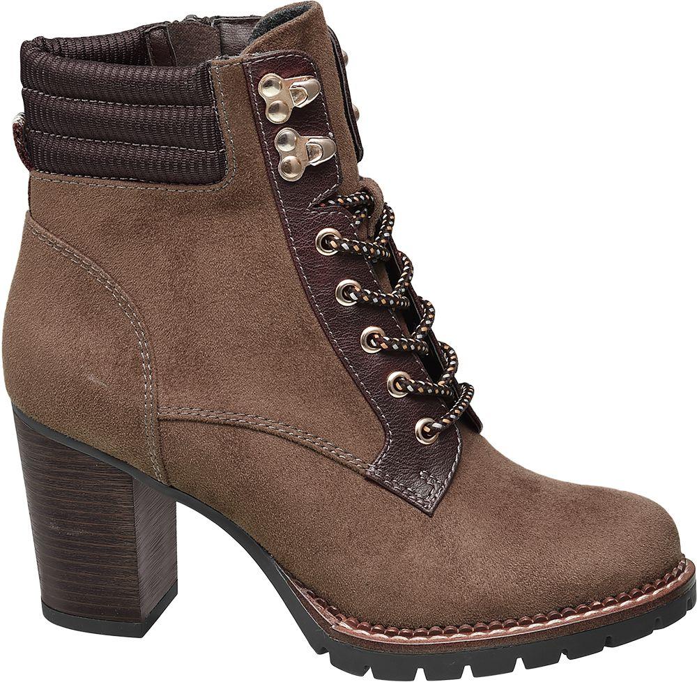 Deichmann - Ellie Star Collection Šněrovací obuv 39 hnědá
