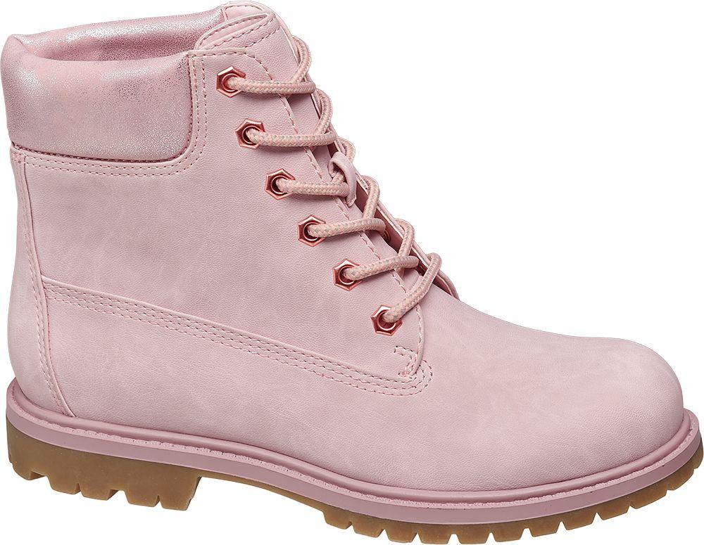 Landrover Šněrovací obuv  růžová