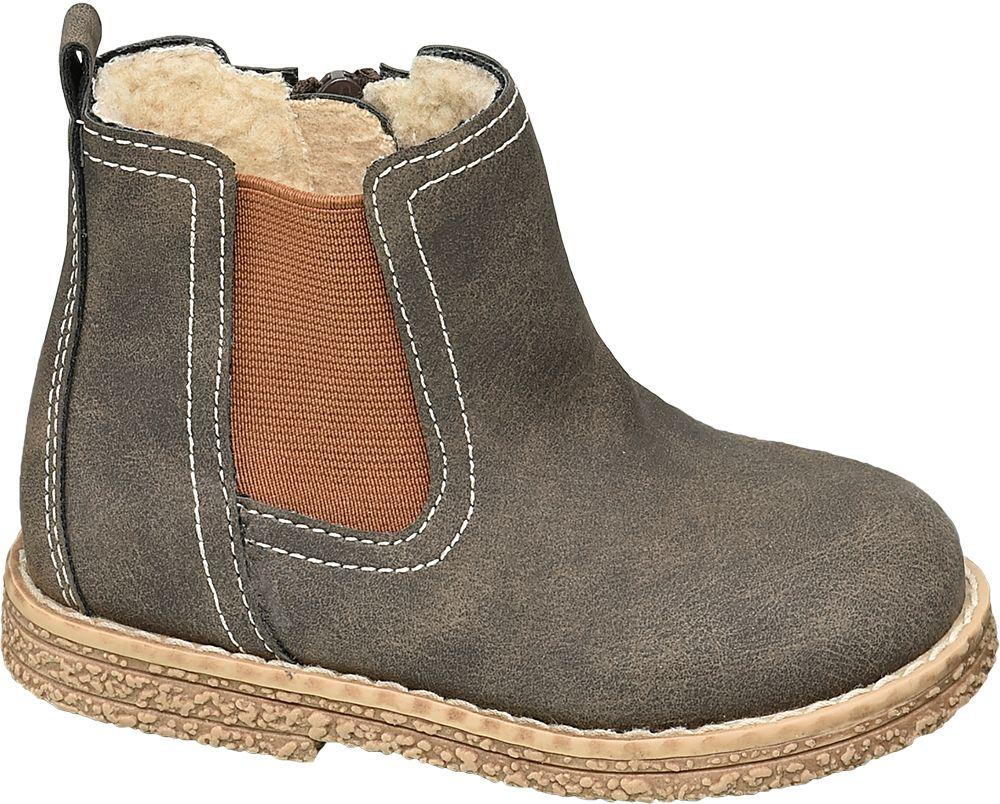 ocieplane kozaczki dziecięce Bobbi-Shoes z zapięciem na zamek