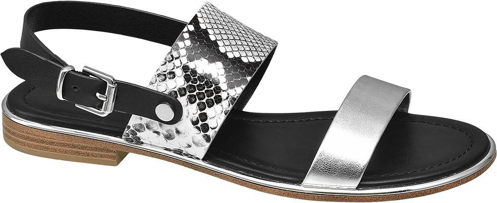 płaskie sandały damskie Catwalk z motywem zwierzęcym