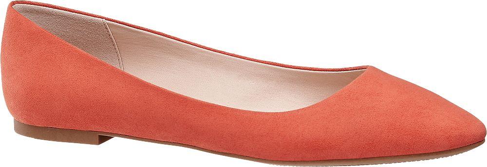pomarańczowe baleriny damskie Graceland