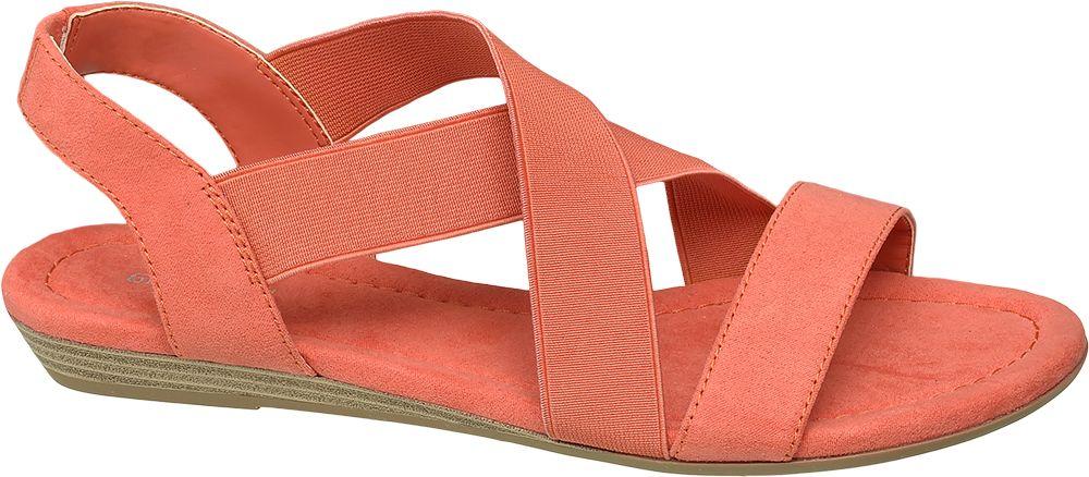 pomarańczowe płaskie sandały Graceland