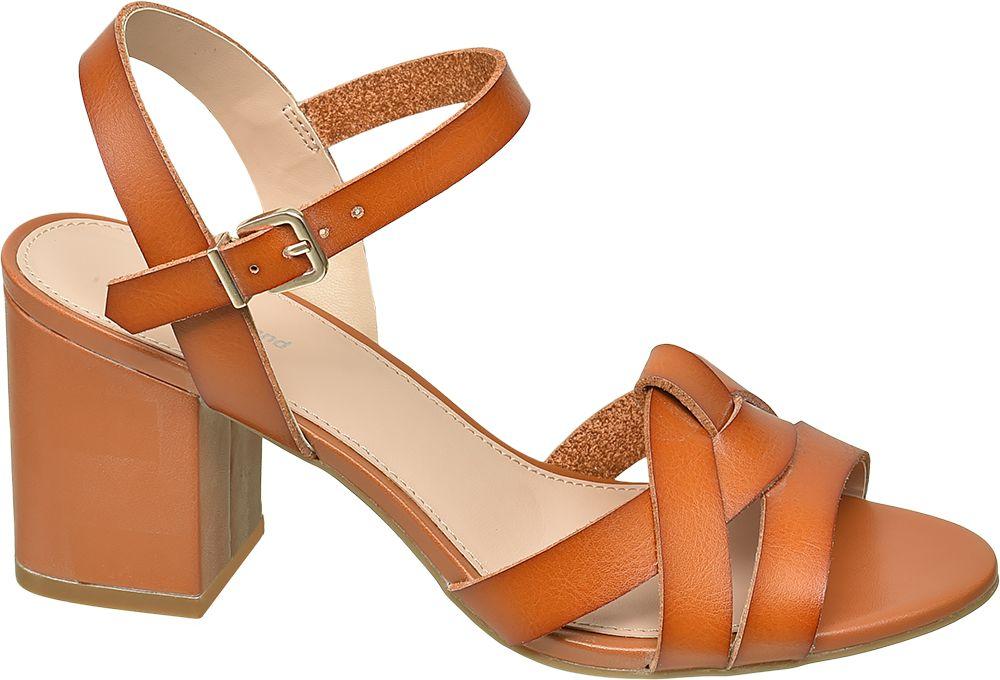 pomarańczowe sandałki damskie Graceland na obcasie