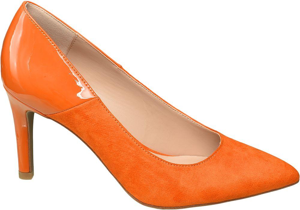 pomarańczowe szpilki damskie Star Collection