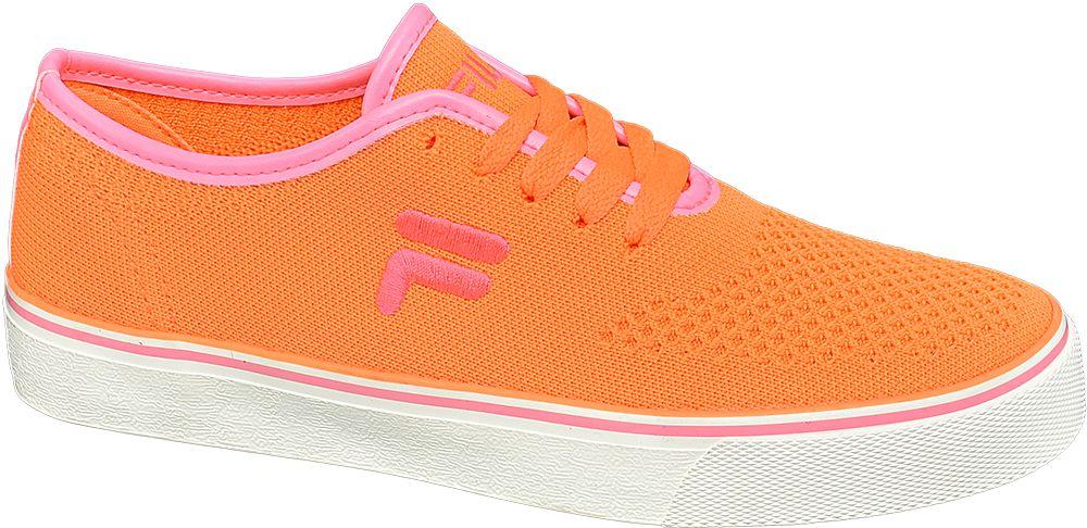 pomarańczowe tenisówki damskie Fila