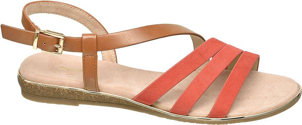 pomarańczowo-brązowe sandały damskie Graceland