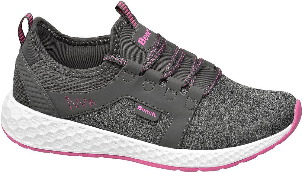 popielate sneakersy damskie Bench na różowej podeszwie