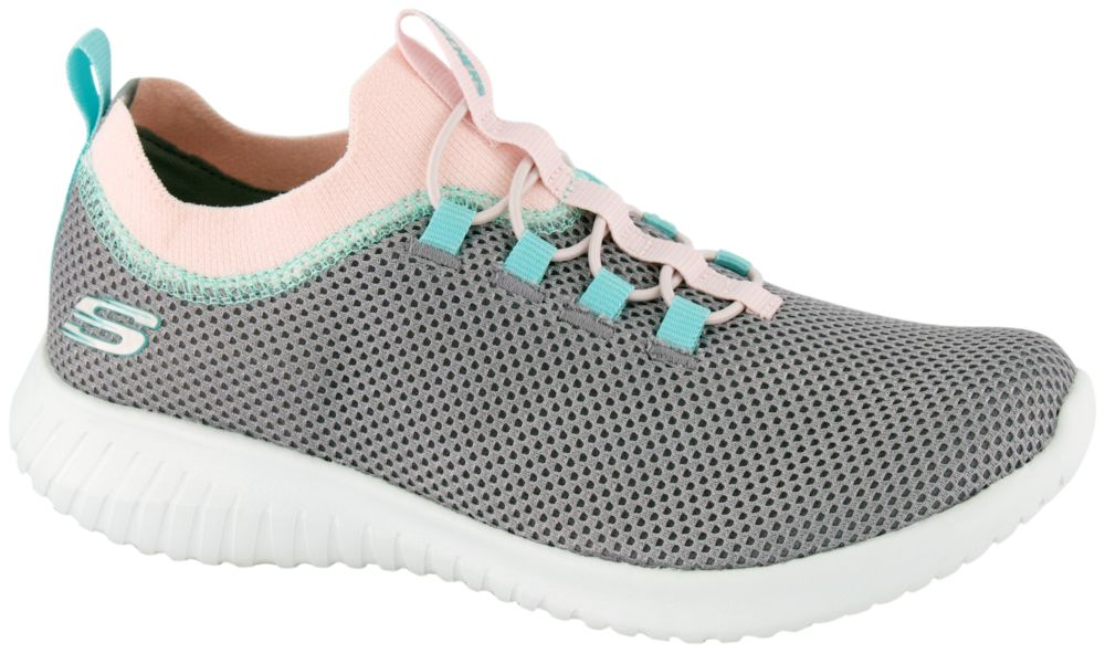 popielate sneakersy dziewczęce Skechers