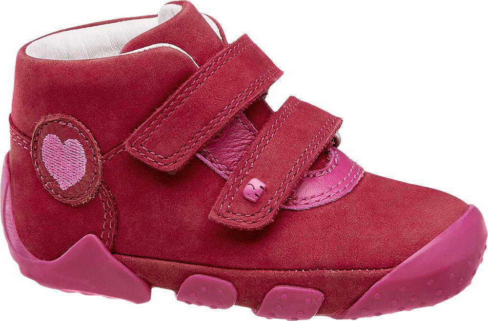 różowe buciki dziewczęce Elefanten z serduszkiem, tęgość M