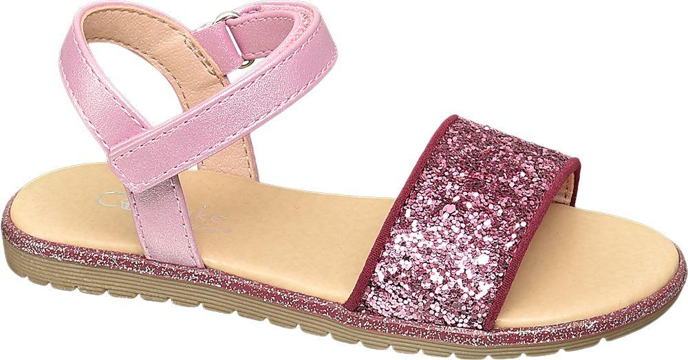 różowe błyszczące sandałki dziewczęce Graceland