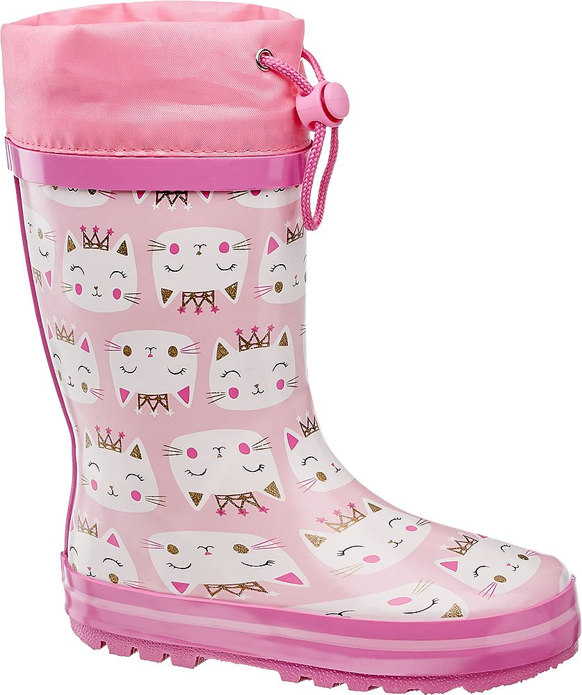 różowe kalosze dziewczęce Cortina ze ściągaczem