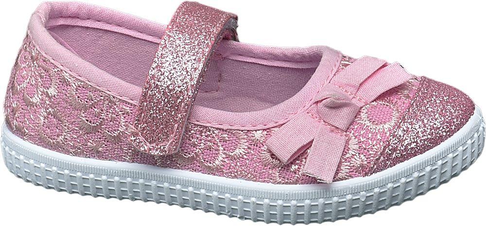 różowe kapcie dziewczęce Cupcake Couture z błyszczącymi elementami