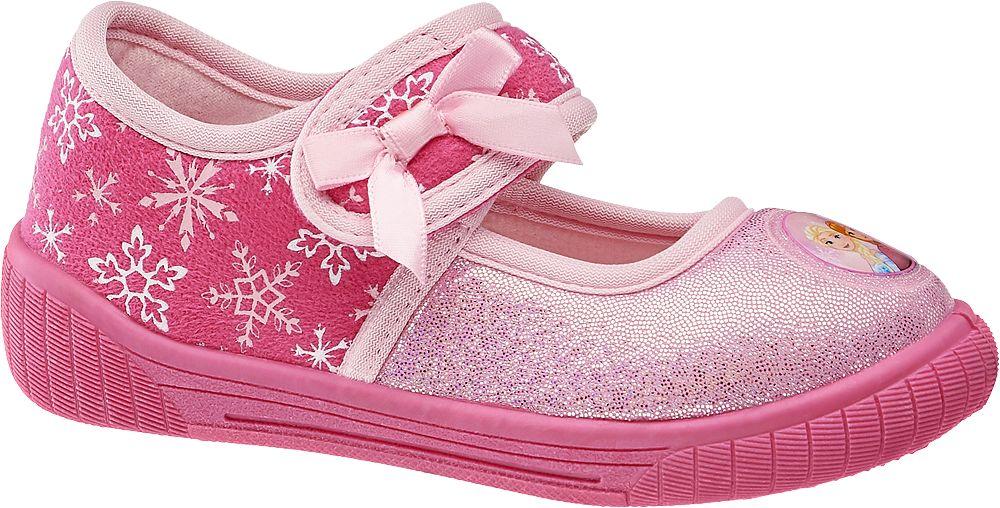 różowe kapcie dziewczęce Disney Frozen zapinane na rzep