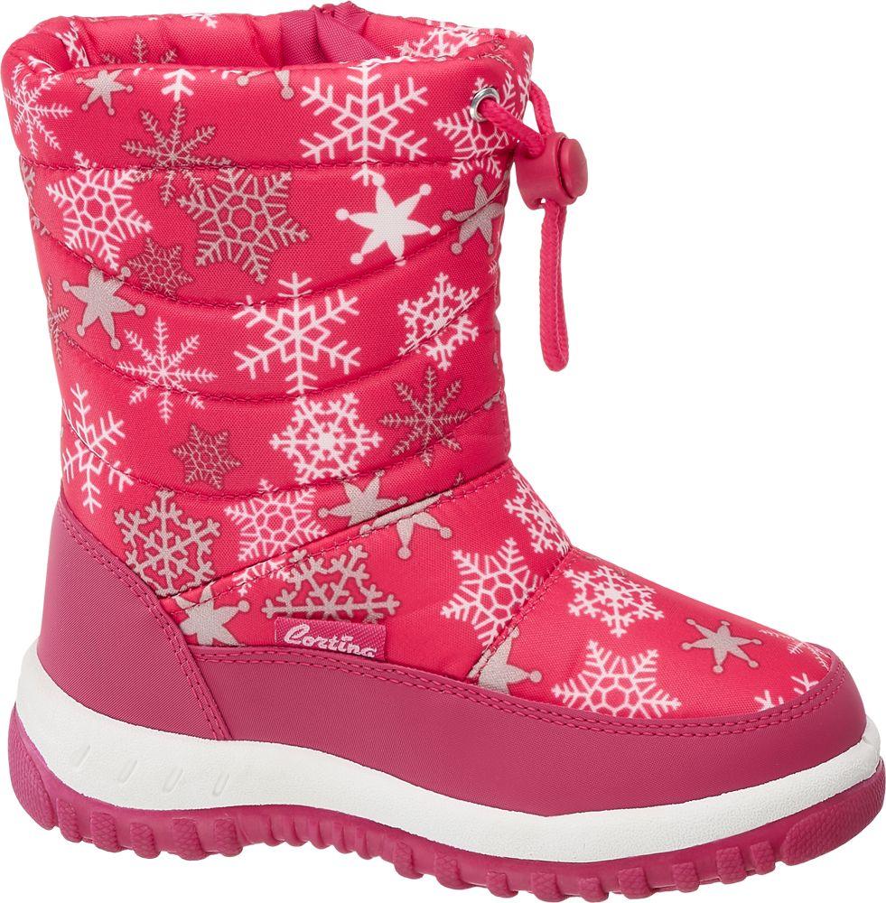 różowe śniegowce dziewczęce Cortina ze ściągaczem