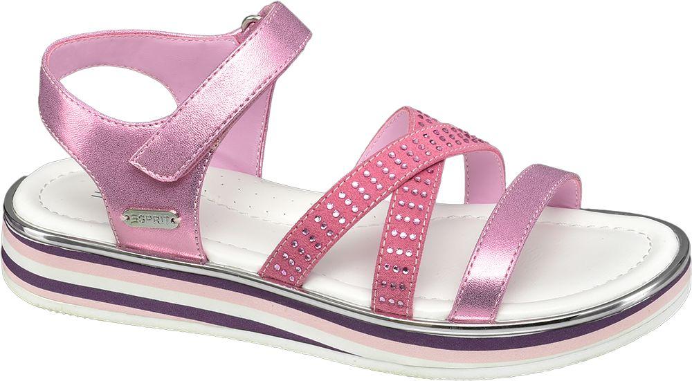 różowe sandałki dziewczęce Esprit