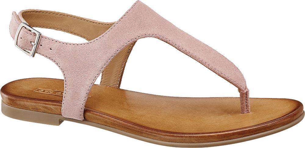 różowe sandały damskie 5th Avenue typu japonki